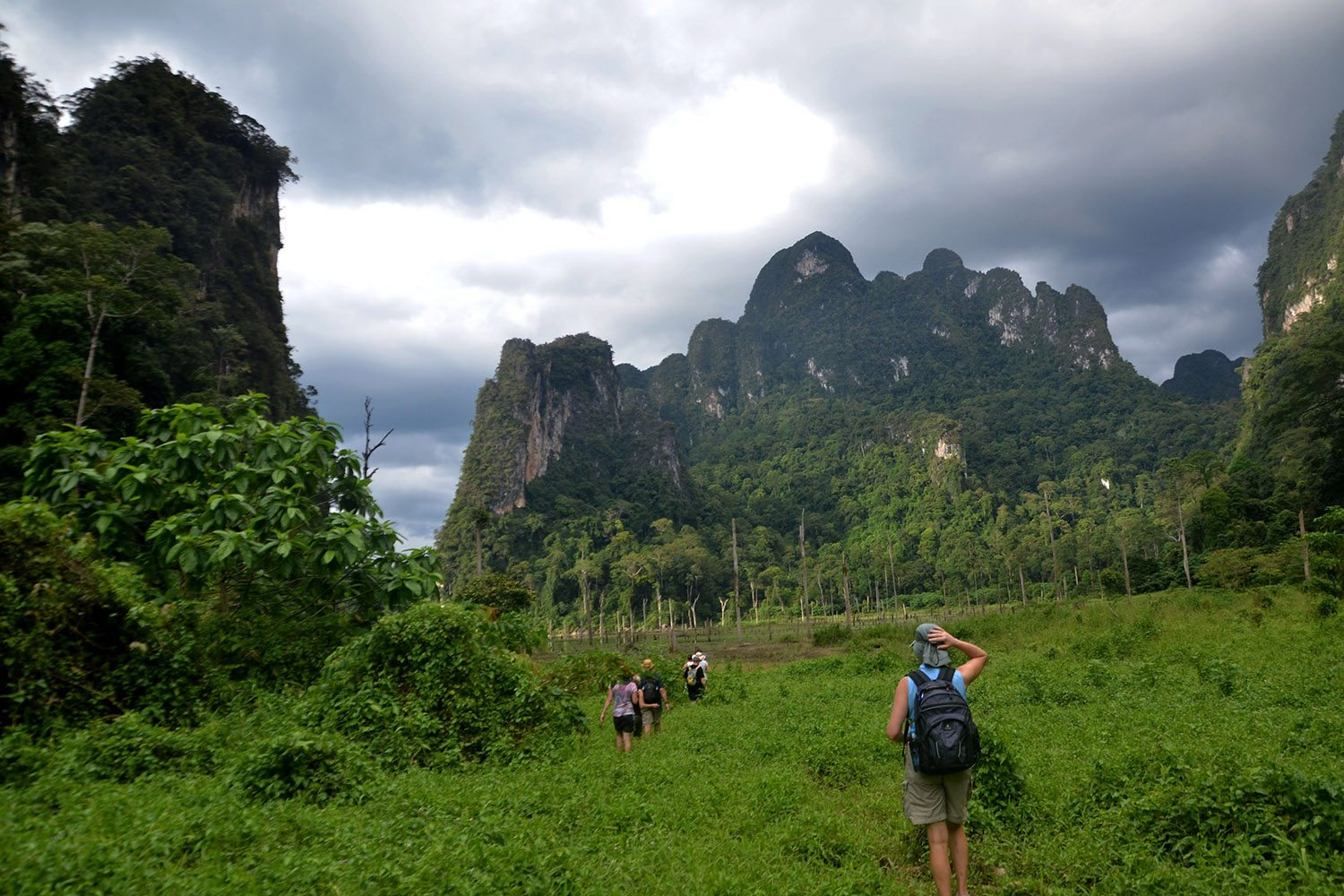 Hiking through the jungles of Khao Sok